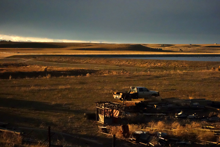Pit Productions View from Empire Builder Train of North Dakota in Afternoon