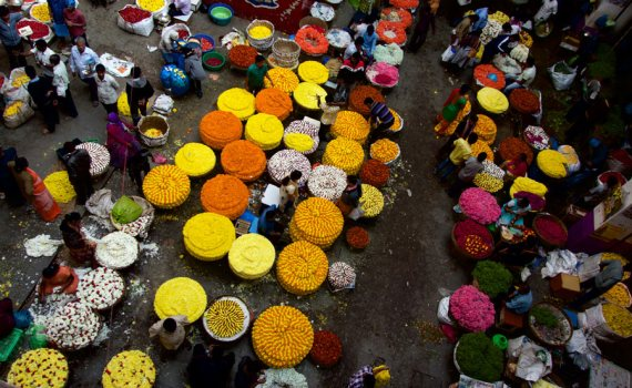 Pit Productions Flower Garland Market in Bengaluru India