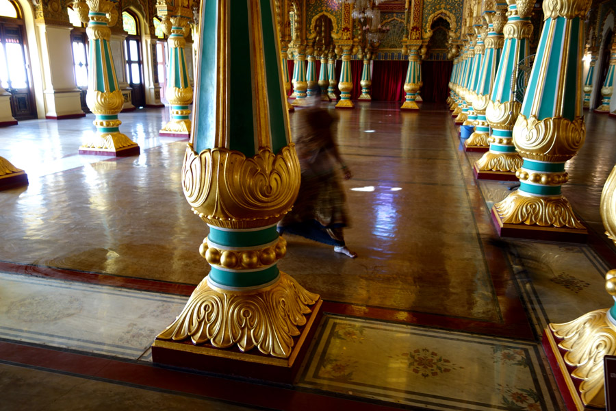 The Sweeper at Mysore Palace