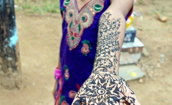 Henna Heart Hand