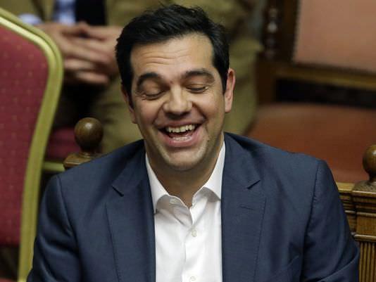tsipras laughs