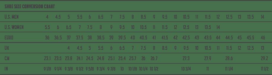 Printable Shoe Goal Chart