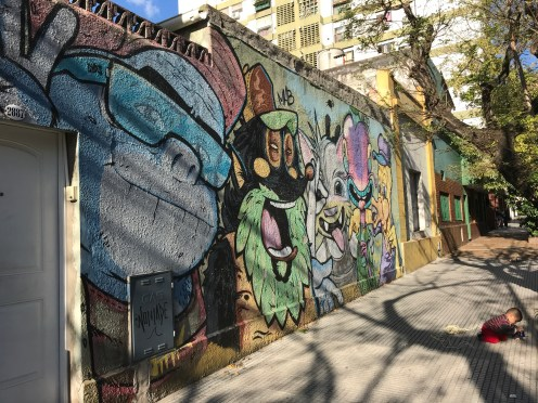 One of the Murals in Buenos Aires