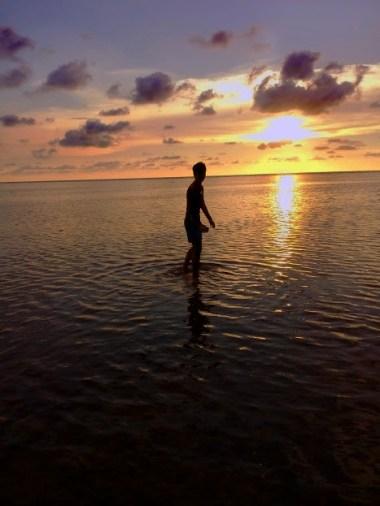 Sunset in Bolinao, Pangasinan