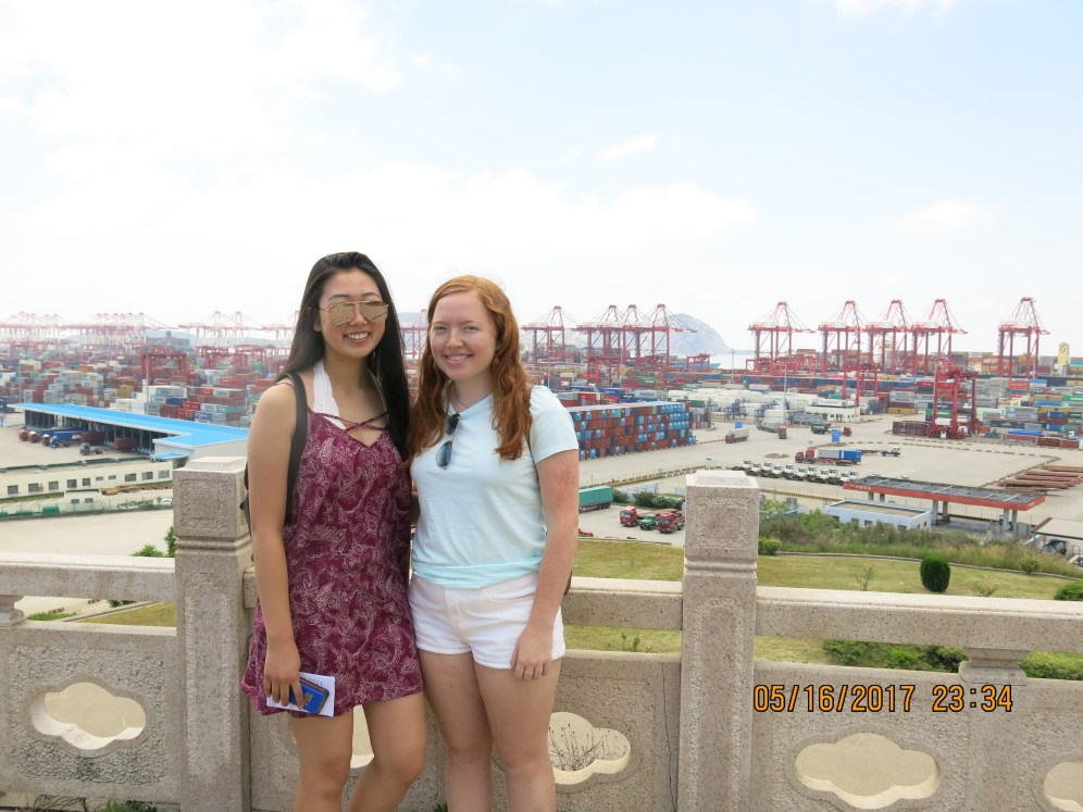 Candice and I at the port