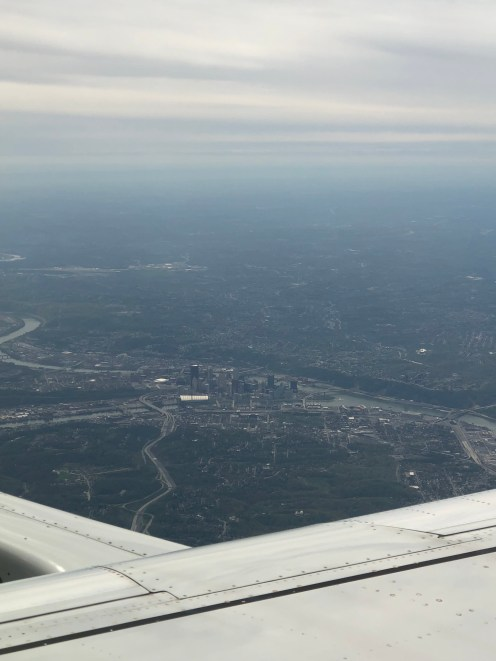 View of Pittsburgh after takeoff