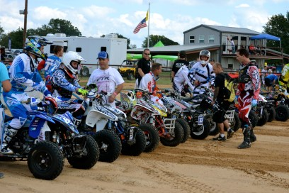 Oppen, Natalie, and Byrd exchanging words at the ATV Pro Challange