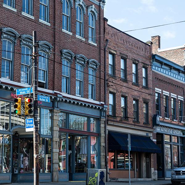 Shops on Butler Street in Lawrenceville