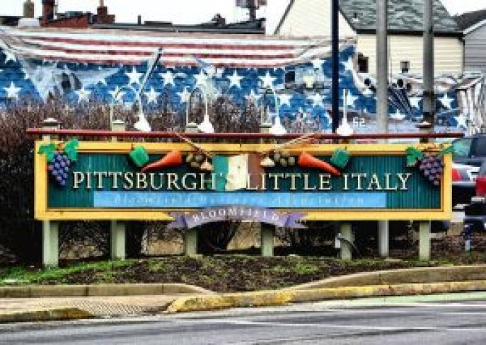 Little Italy Sign in Bloomfield