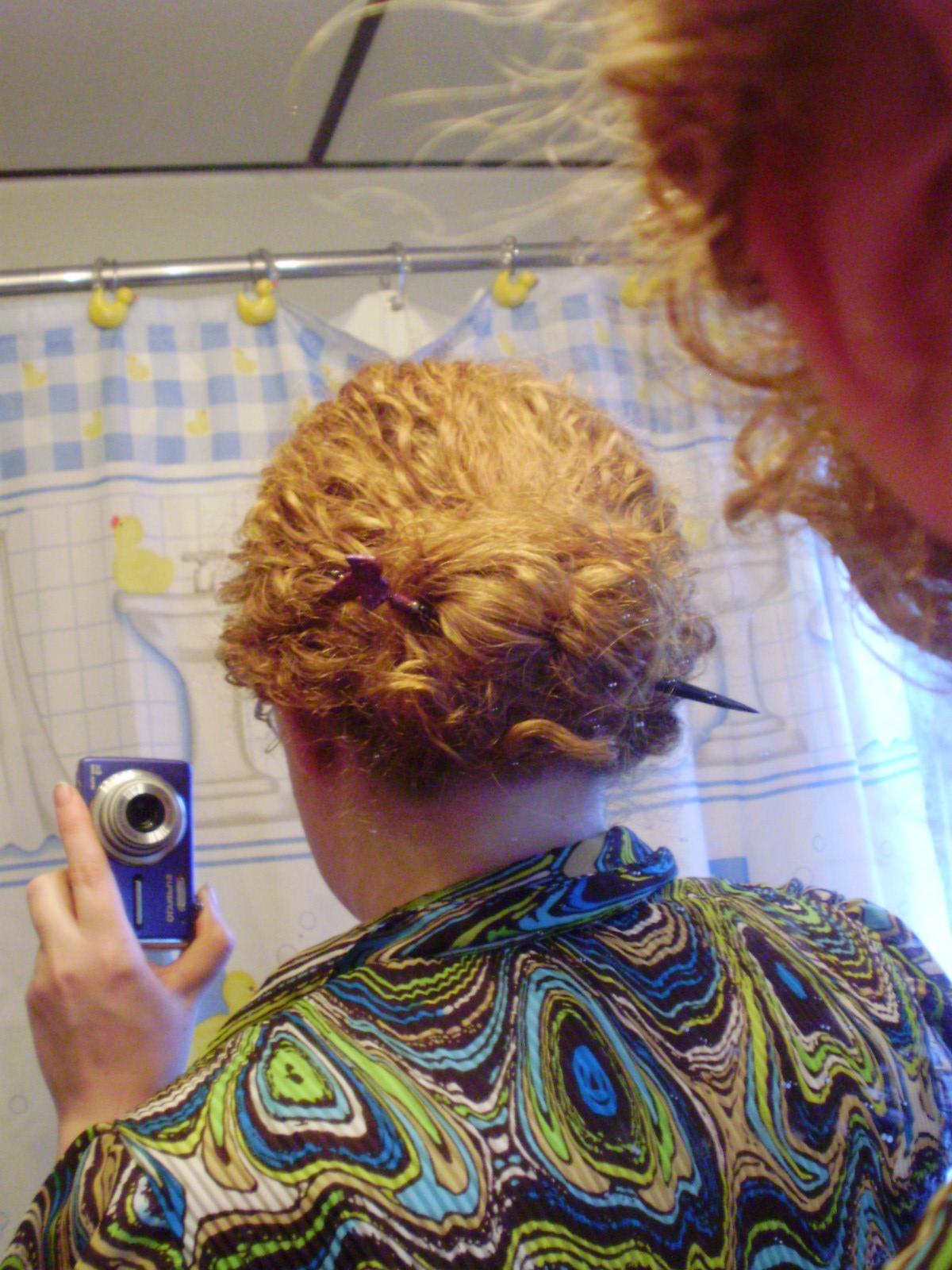 Chinese Bun 2nd day hair