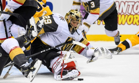 Marc-Andre Fleury beats Pittsburgh Penguins