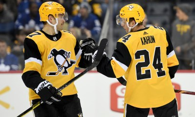 Pittsburgh Penguins Bryan Rust and Dominik Kahun
