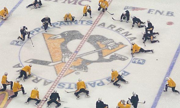 Pittsburgh Penguins practice, Jeff Carter