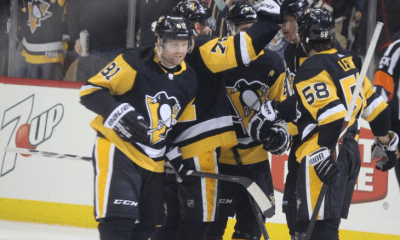 Pittsburgh Penguins Phil Kessel, Sidney Crosby, Kris Letang and Evgeni Malkin