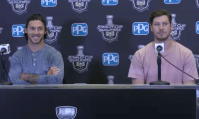 Pittsburgh Penguins Kris Letang and Tristan Jarry in the NHL Bubble