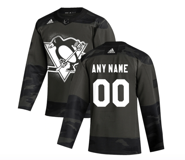 Pittsburgh Penguins camo jersey