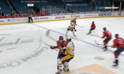 Pittsburgh Penguins Tom Wilson hit Mark Jankowski
