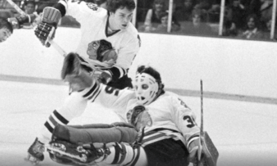 Former Pittsburgh Penguins GM Tony Esposito with the Chicago Blackhawks