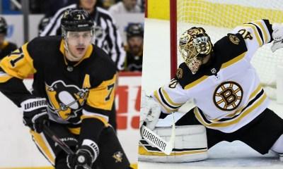 Pittsburgh Penguins Evgeni Malkin, Boston Bruins Tuukka Rask