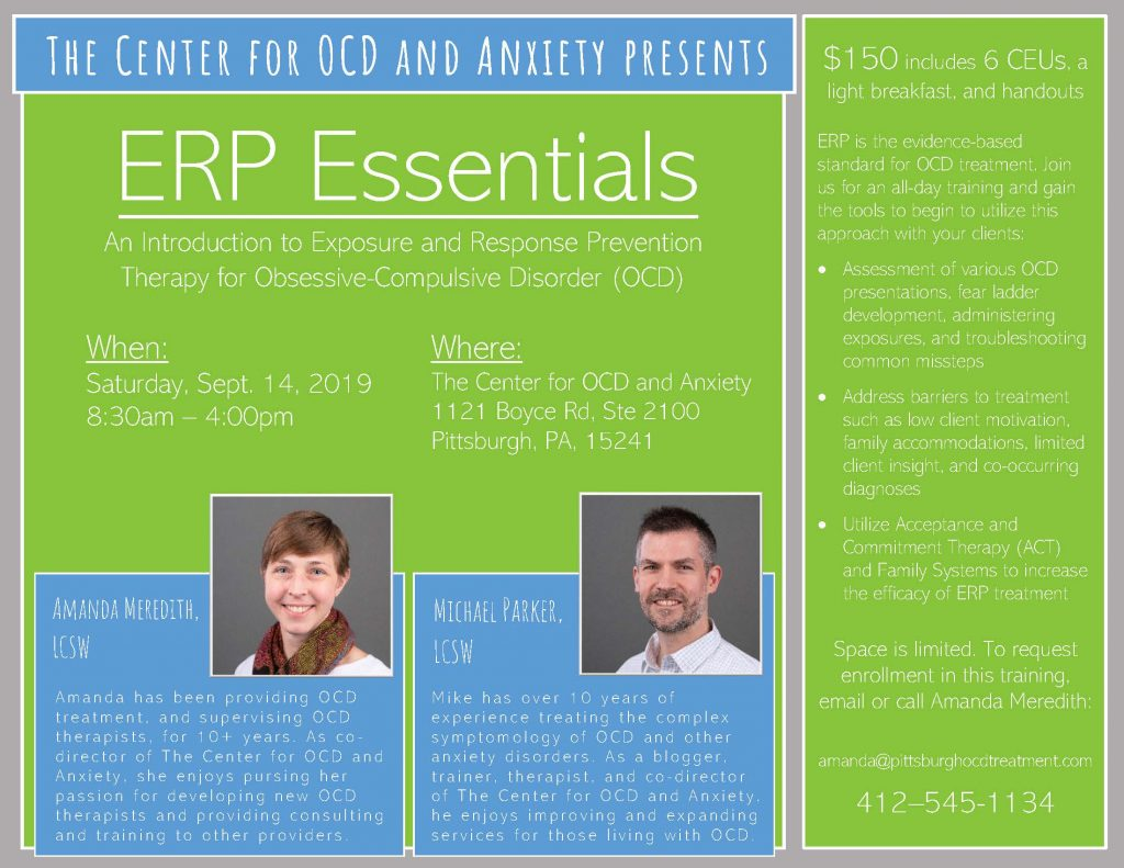 All Day Training On Ocd Treatment