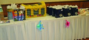 Gift bags were presented to the caregivers.