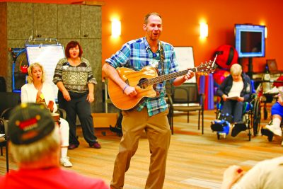 Entertainment was provided at the open house. (Photo by Jared Wickerham/Wick Photography)