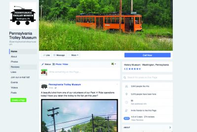 Pennsylvania Trolley Museum home page.
