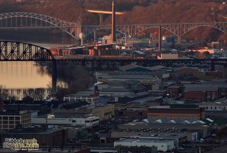 Warehouses along the Ohio River