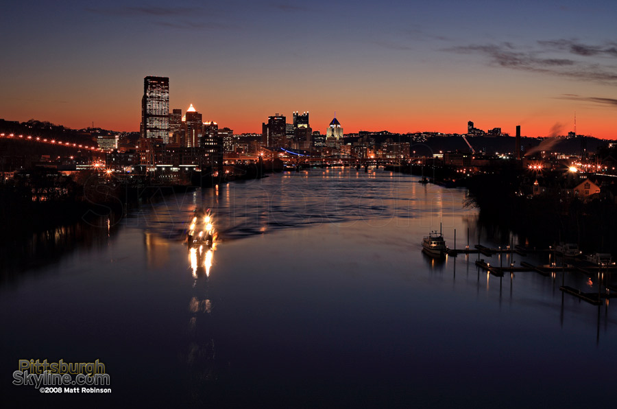 Sunset over the Allegheny River