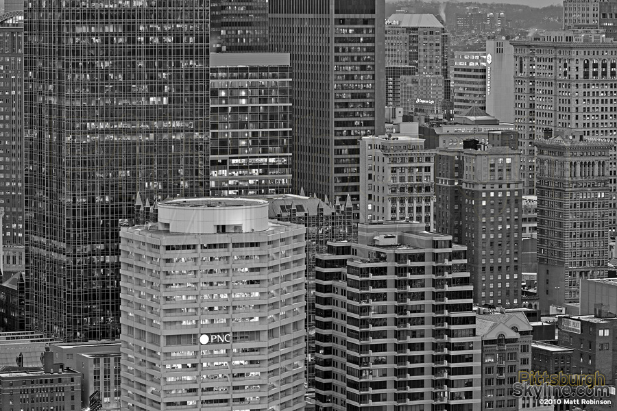 Downtown Pittsburgh in Black and White
