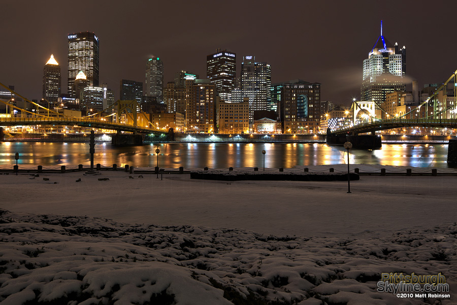 Snowy Pittsburgh North Side