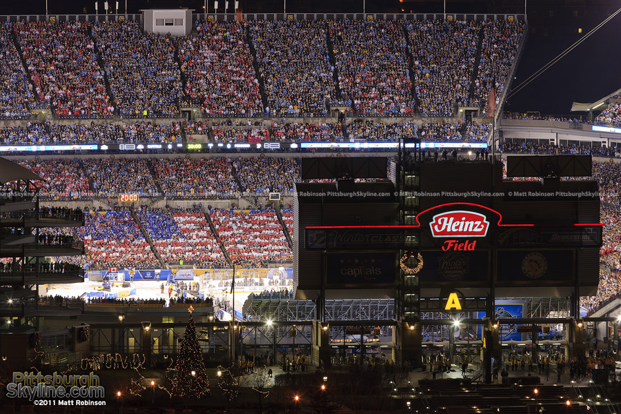 Fan created American Flag at the Winter Classic