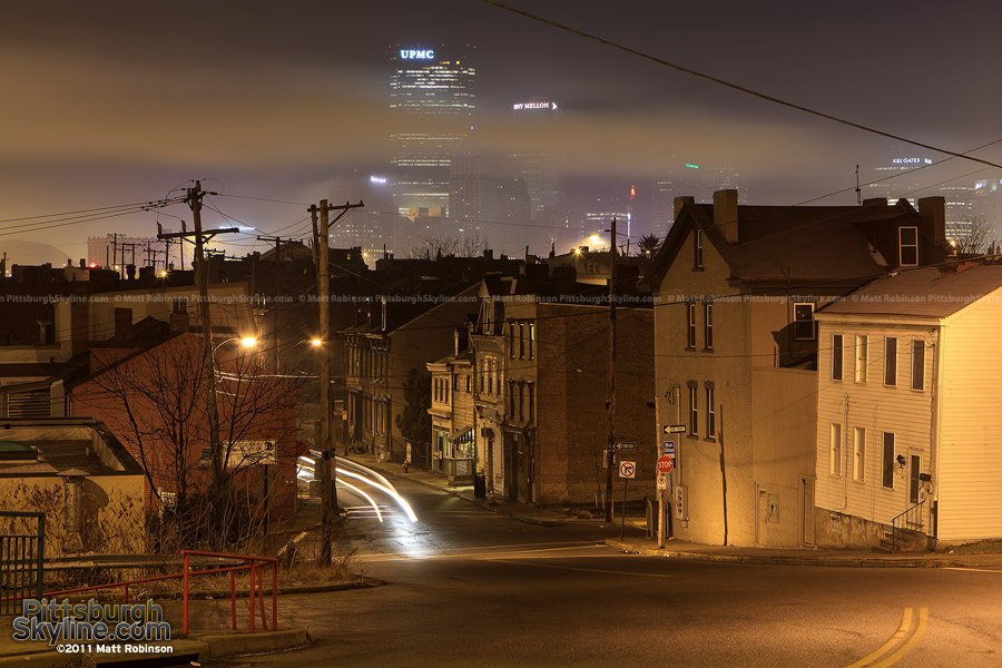 Foggy night in the city