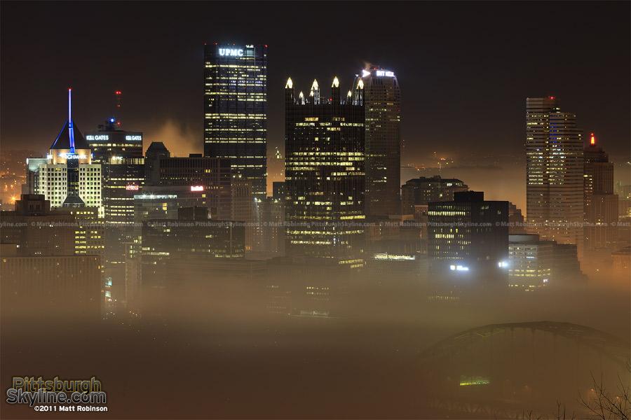 Pittsburgh Skyline Fog