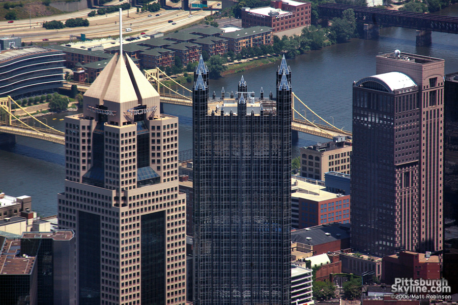 Aerial of Fifth Avenue Place and PPG Place