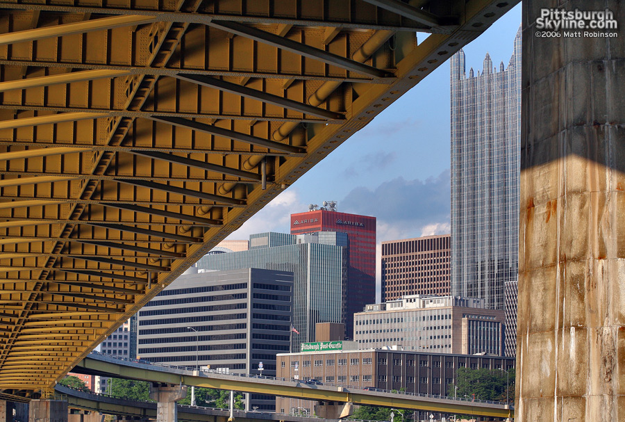 Underneath the Fort Pitt Bridge