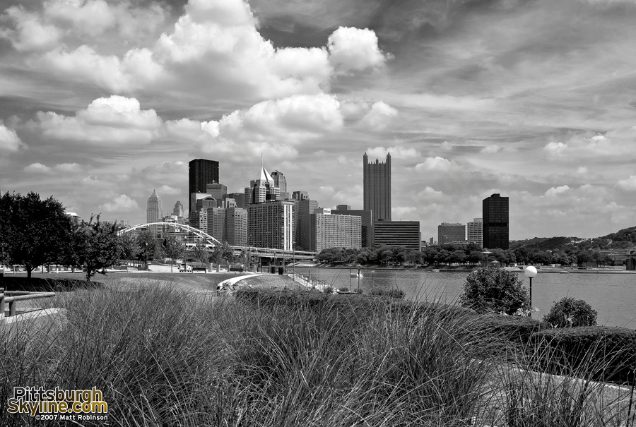 Downtown from the Carnegie Science Center