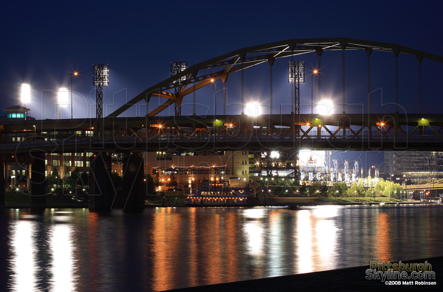 Fort Duquesne Bridge and PNC Park.