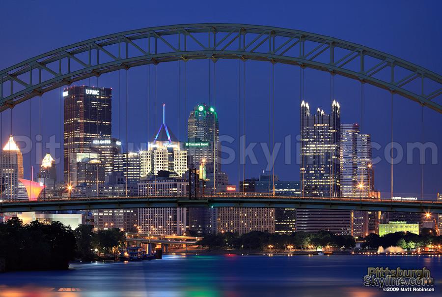 West End Bridge frames Pittsburgh