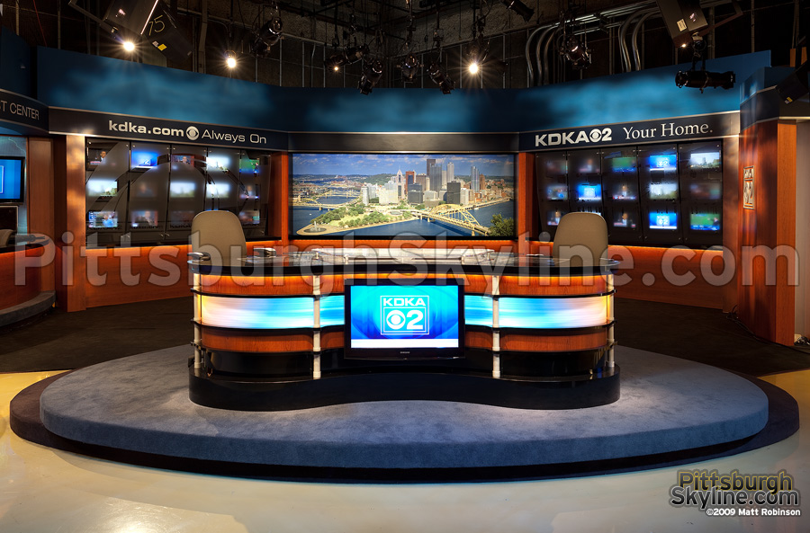 KDKA's new set with PittsburghSkyline.com daytime duratans