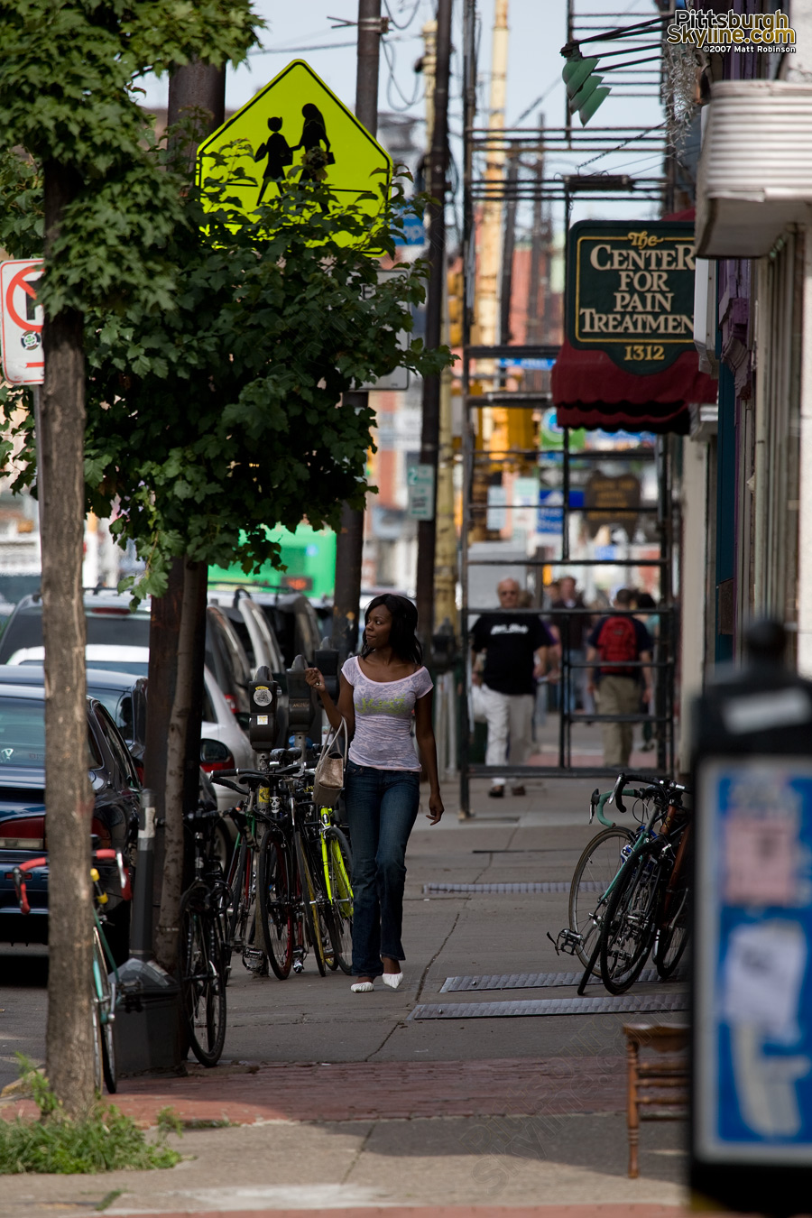 South Side pedestrian.