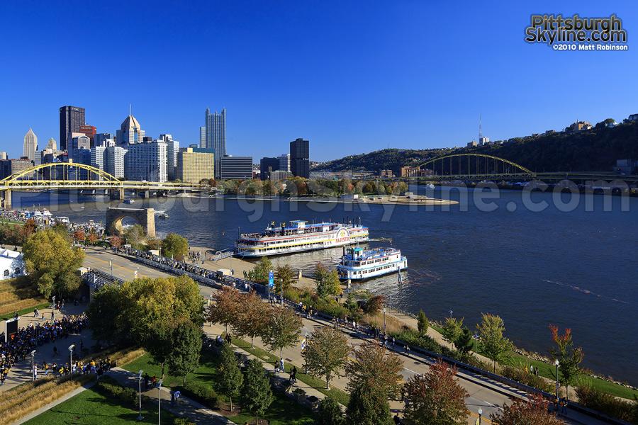 Crisp day in Pittsburgh