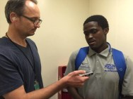 Lebo Moloto provides interview after Hounds clinch 2015 playoff spot (Sept. 2015)