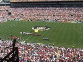 USWNT take the field prior to friendly vs Costa Rica at Heinz Field (August 2015)