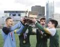 Seton LaSalle Boys Celebrate WPIAL Title at Highmark Stadium (Nov 2015)