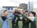 Seton LaSalle Boys Celebrate WPIAL Title at Highmark Stadium (Nov 2015)