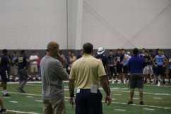 Matt Canada and Pat Narduzzi at Pitt's Prospect Camp