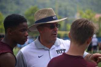 Pat Narduzzi at Pitt's 7x7 camp (Photo credit: Joe Steigerwald)
