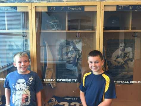 Ryan and Charlie at Tony Dorsett's locker