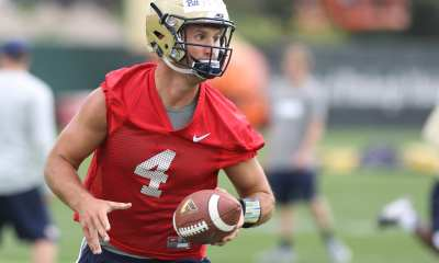Nathan Peterman during the first practice of the season (Photo credit: David Hague)